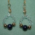 Lapis and Swarovski Crystal Earrings