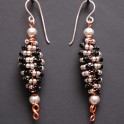 Coiled Beaded Earrings