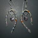Argentium Swarovski Multi-Colored Crystal Earrings