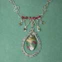 Crystal and Ruby Fuschite Necklace