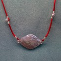 Shell Rope Necklace with Silver Beads