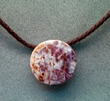 Shell Pendant with Leather Rope