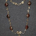 14kt Gold-Filled Chain with Glass Beads