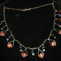 Gold and Blue Goldstone