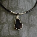 Dark Brown Sea Glass Necklace