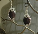 Mother of Pearl Earrings with crystal beads