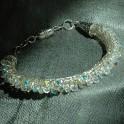 Viking Knit Bracelet Silver with Swarovski Crystals