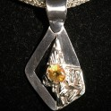 Citrine Gemstone with Silver Pendant