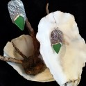 Sterling Silver with Sea Glass Earrings