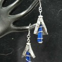 Precious Metal Clay and Lapis Earrings