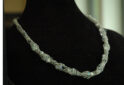 Twisted Viking Knit and beaded necklace